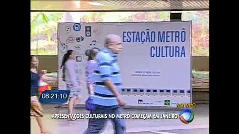 Apresentações culturais no metrô começam em janeiro