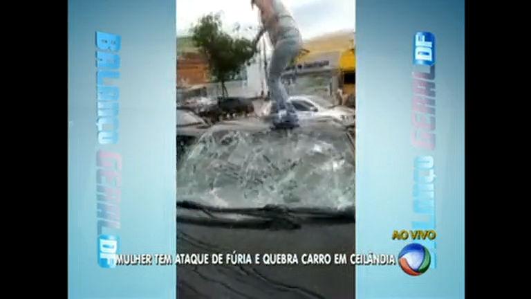 Após suposta traição, mulher quebra carro do marido em Ceilândia ...