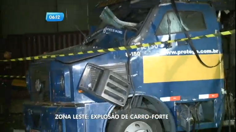 Bandidos usam dinamites para explodir carro- forte na zona leste de ...