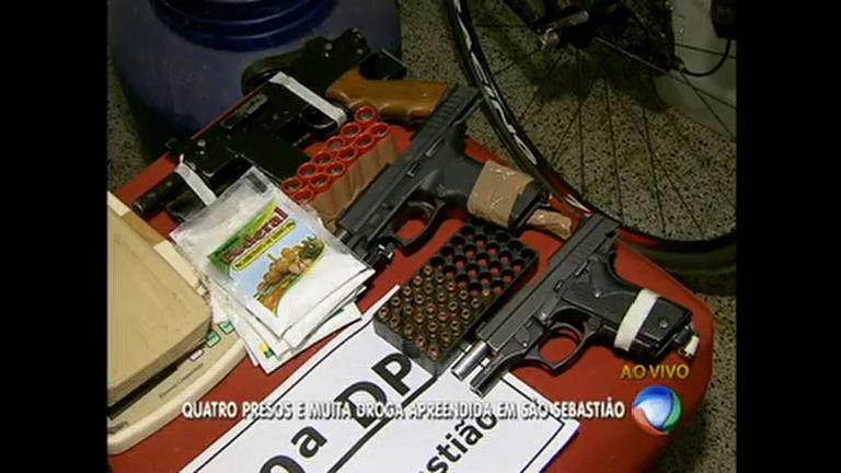 Polícia prende quatro pessoas com cocaína e crack em São Sebastião