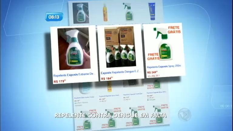 Repelentes contra mosquito da dengue são vendidos a preços ...