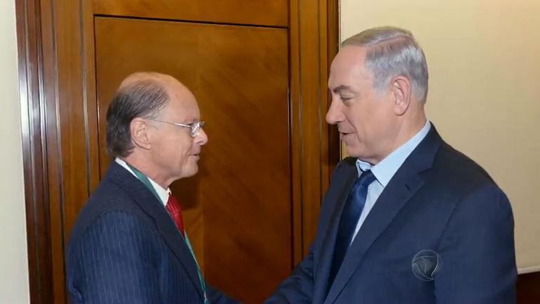 Bispo Edir Macedo é recebido pelo primeiro-ministro de Israel, em ...