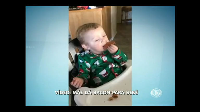Especialistas repercutem vídeo viralizado de bebê que come bacon ...