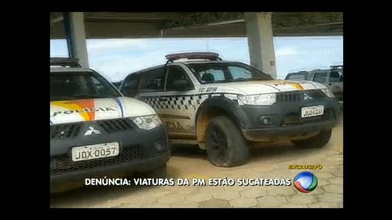 Policiais militares denunciam viaturas sucateadas em oficinas no DF