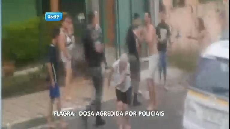 Flagra: policial da Brigada Militar agride idosa com cassetete em ...