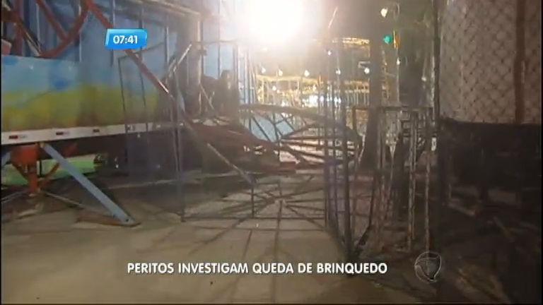 Peritos investigam queda de brinquedo em parque de São Vicente ...