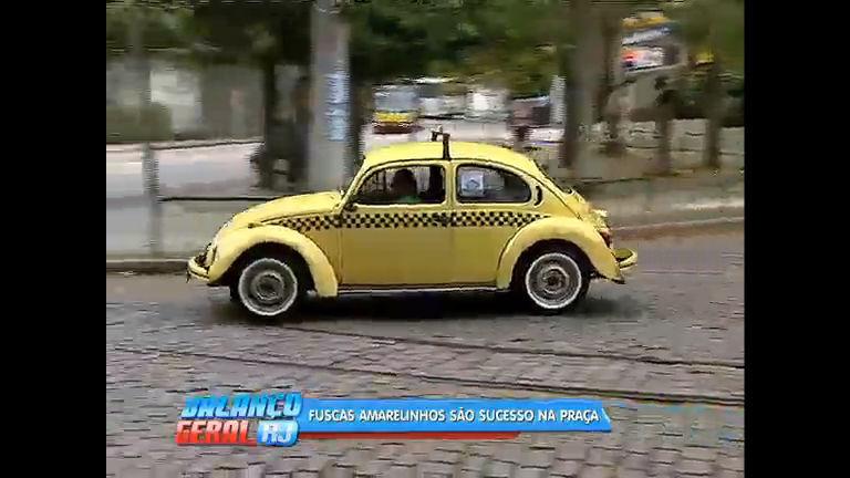 Fusca-táxi vira atração turística na zona norte - Rio de Janeiro - R7 ...