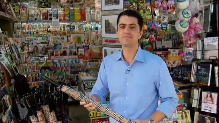Preço de guarda- chuva aumenta por causa da alta do dólar - Rede ...