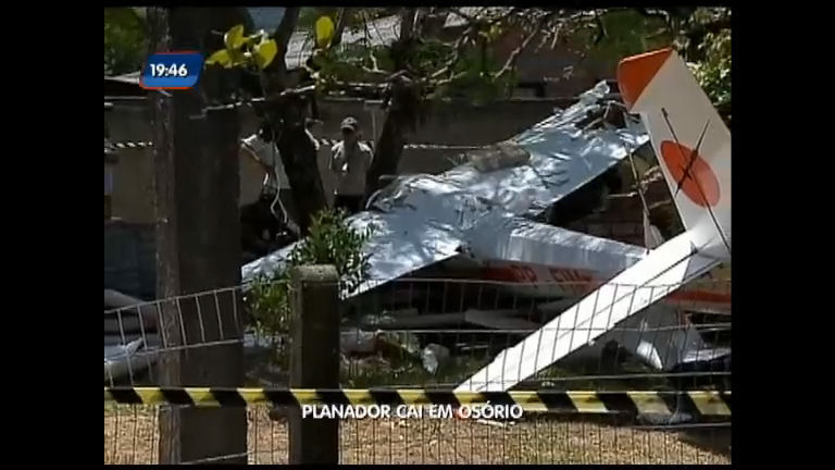 Planador cai em Osório - Rede Record
