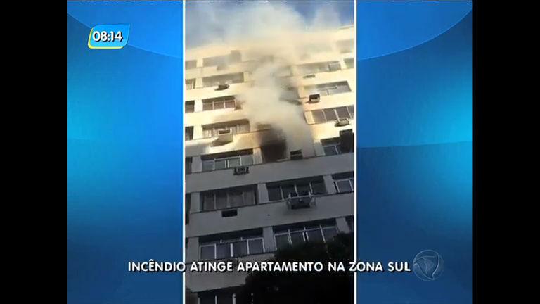 Acidente doméstico causa incêndio em apartamento na zona sul ...