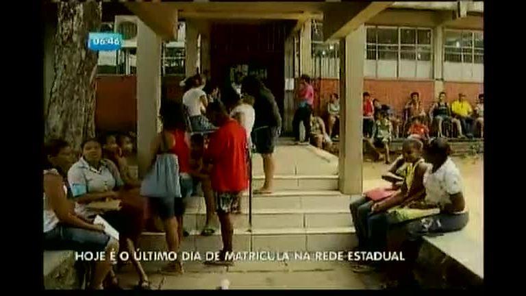 Último dia de matricula na Rede Estadual - Bahia - R7 Balanço ...