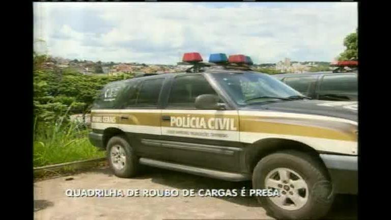 Quadrilha de roubo de cargas é presa - Minas Gerais - R7 MG Record