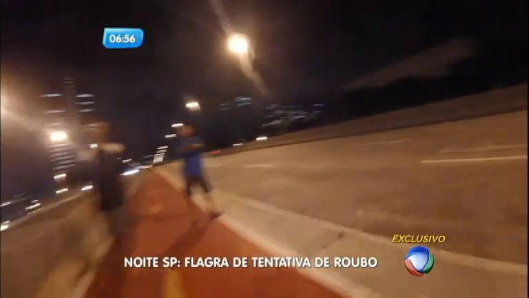 Câmera de ciclista flagra tentativa de assalto em ciclofaixa na zona ...
