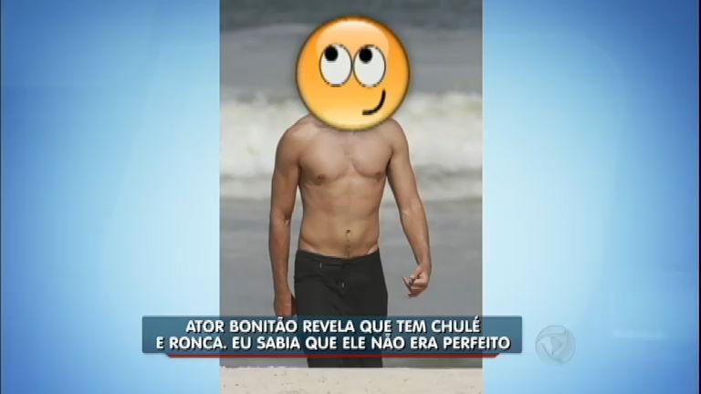 Hora da Venenosa: ator bonitão confessa que tem chulé e ronca ...