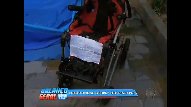 Após reportagem do Balanço Geral RJ, ladrão devolve cadeira de ...