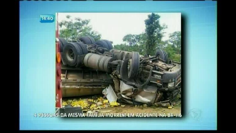 4 pessoas da mesma família morrem em acidente na BR-116 ...