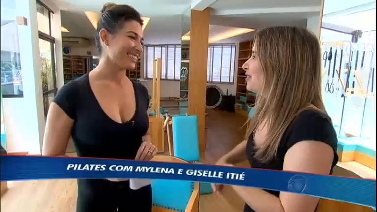 Atriz Giselle Itié mostra que é craque no pilates - Rede Record