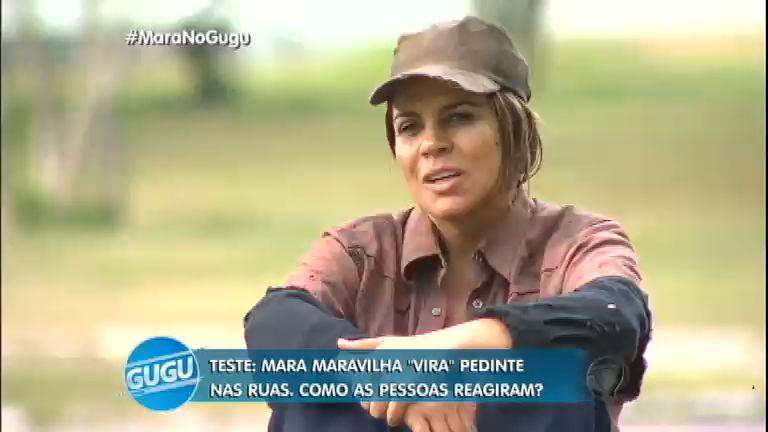 Mara Maravilha vira mendiga por um dia - Entretenimento - R7 ...
