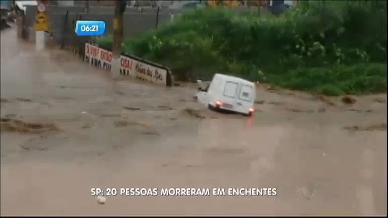Enchentes já causaram 20 mortes neste verão na Grande São Paulo