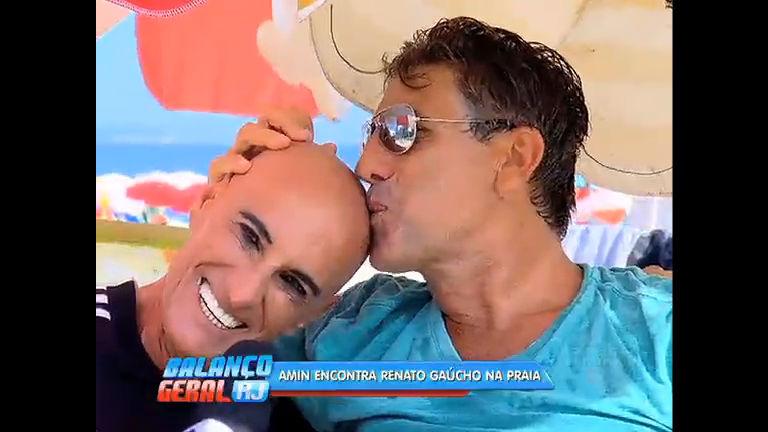 Amin Khader encontra Renato Gaúcho na praia de Ipanema - Rio ...