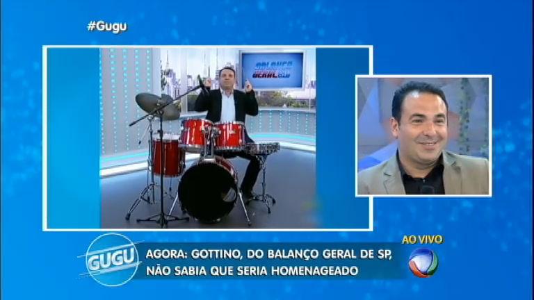 Reinaldo Gottino não segura as lágrimas com homenagem ...