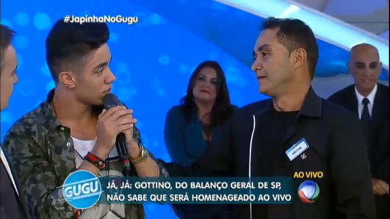 Sensação da internet, Japinha Sertanejo conhece o pai ao vivo no ...