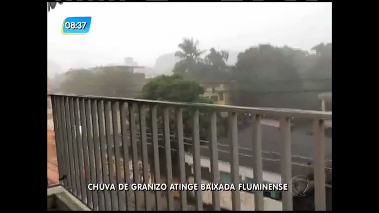 Baixada Fluminense tem chuva de granizo nesta quinta - Rio de ...