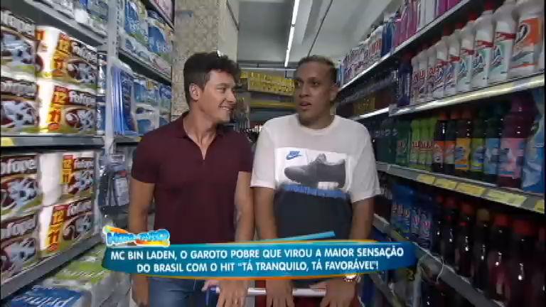 Rodrigo Faro arma surpresas para MC Bin Laden em ida ao mercado