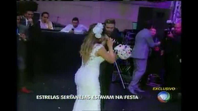 Balanço Geral acompanha casamento de cantores sertanejos em ...