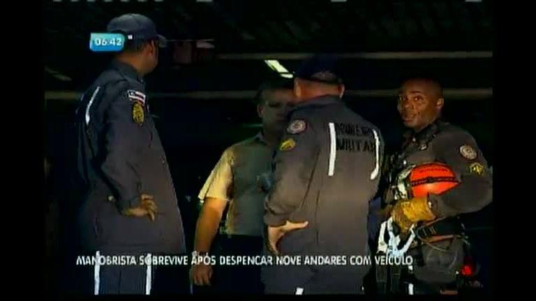 Manobrista sobrevive após despencar 9 andares com veículo ...
