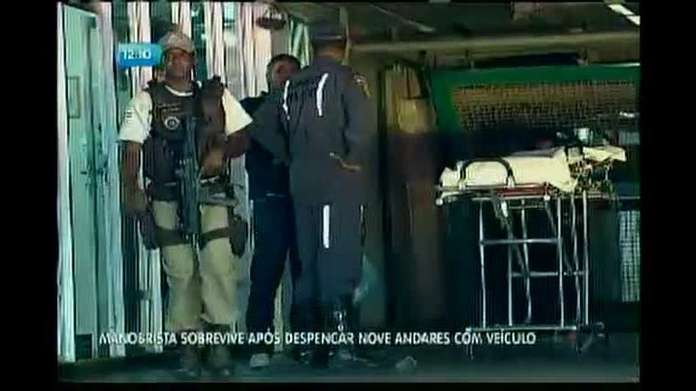 Manobrista sobrevive após despencar oito andares com veículo ...