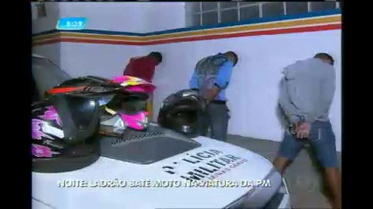 Quarteto é preso como duas motos roubadas em Ribeirão das Neves