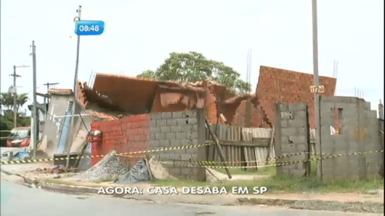 SP no Ar mostra momento em que casa desaba em Guarulhos (SP ...