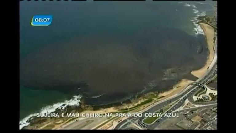 Sujeira e mau cheiro em praia de Salvador - Bahia - R7 Bahia no Ar
