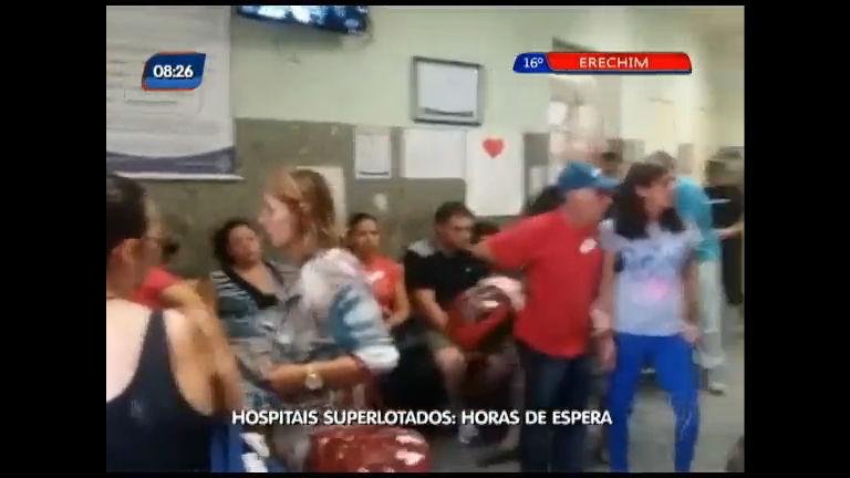 Hospitais superlotados: Horas de espera