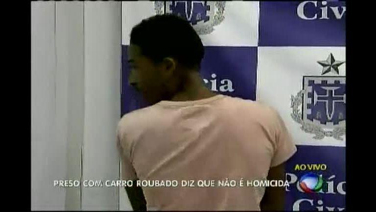 Preso em flagrante com carro roubado - Bahia - R7 Balanço Geral BA