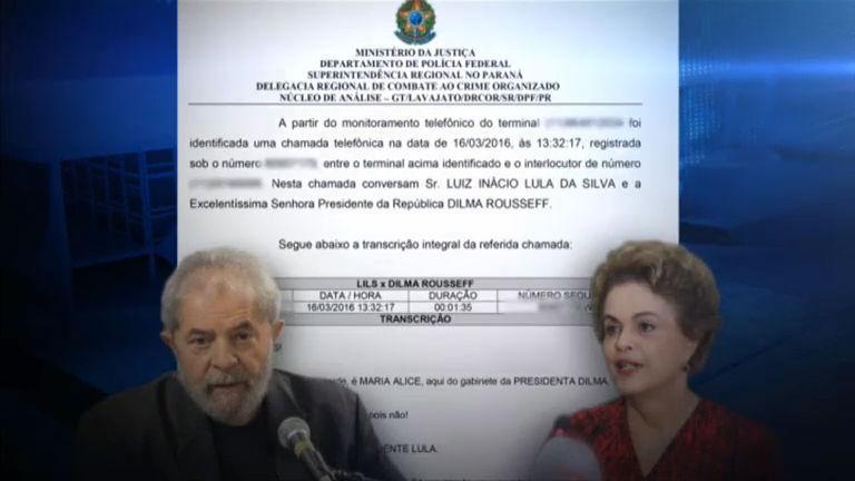 Polícia Federal divulga grampo de telefonema entre Dilma e o ex ...