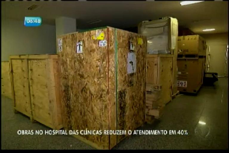 Obras no Hospital das Clínicas reduzem o atendimento em 40%
