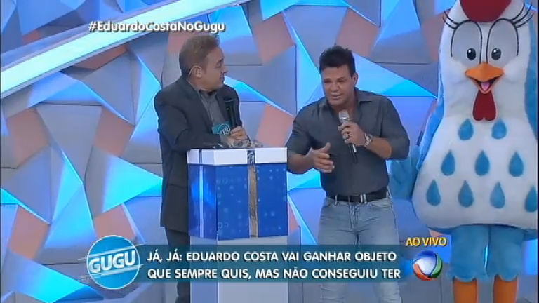 Surpresa no palco: Gugu realiza sonho de Eduardo Costa ...