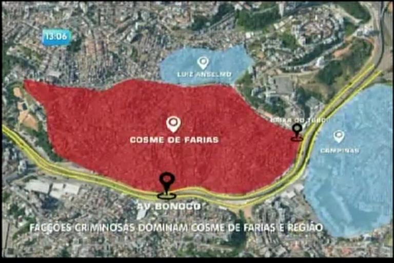 Facções criminosas dominam Cosme de Farias e região