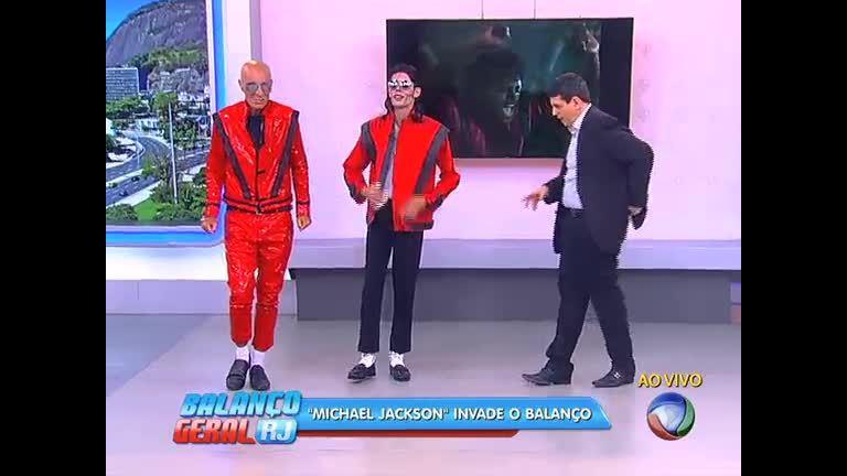 Sósia de Michael Jackson vai ao Balanço Geral RJ - Rio de Janeiro ...