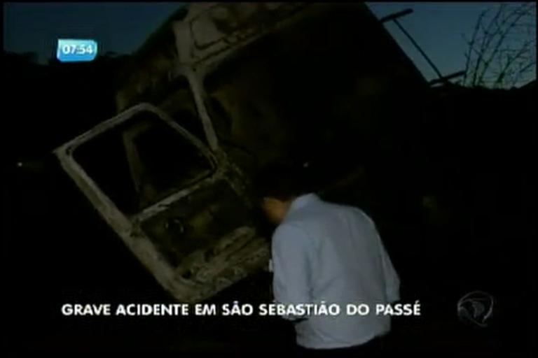 Grave acidente em São Sebastião do Passé - Bahia - R7 Bahia no Ar