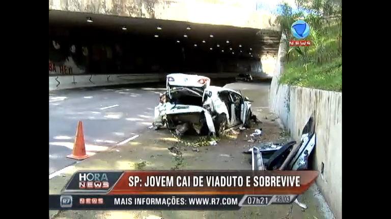 Estudante perde o controle da direção e carro cai de viaduto em ...
