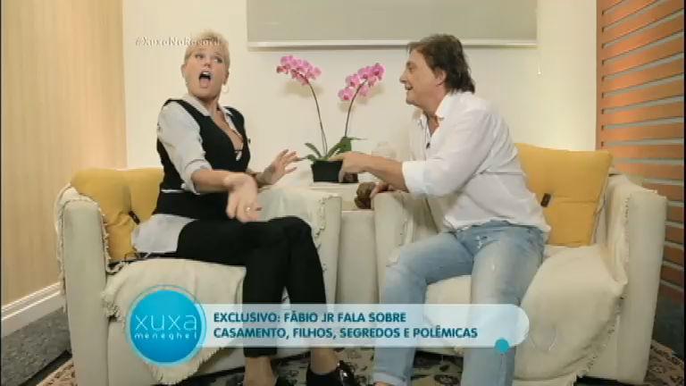 Faço Parte do Show: Xuxa invade palco e surpreende fãs de Fábio Jr.