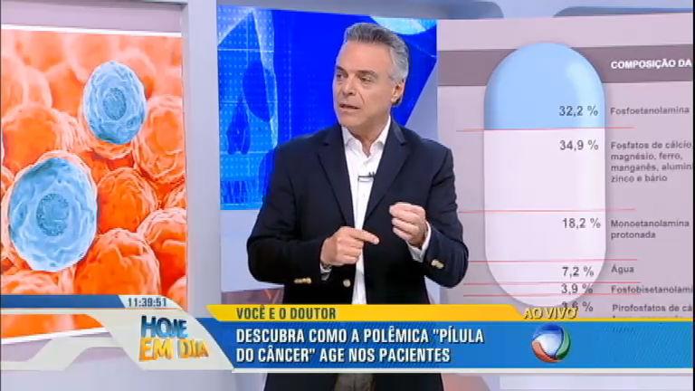 Sproesser explica como o câncer se desenvolve no corpo e como age a pílula que promete curar a doença