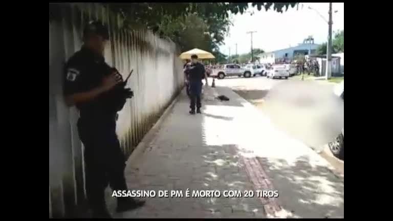 Assassino de PM é morto com 20 tiros