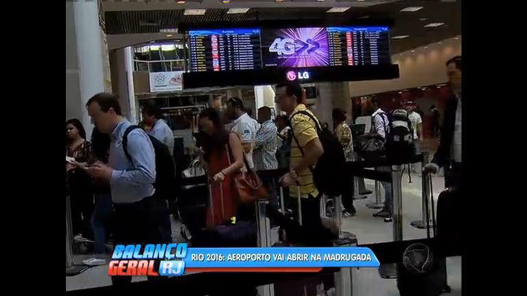 Aeroporto Santos Dumont vai funcionar de madrugada durante Olimpíadas