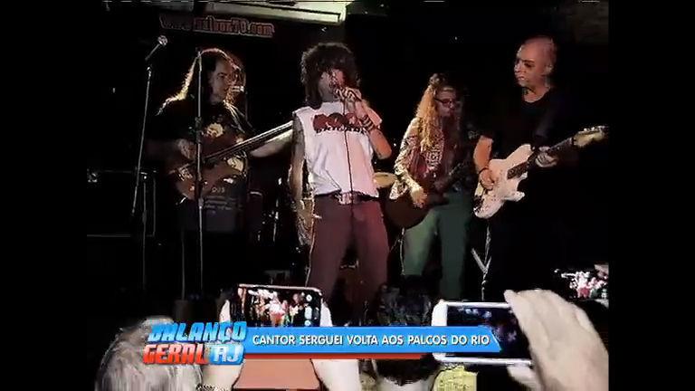 Roqueiro Serguei volta aos palcos cariocas