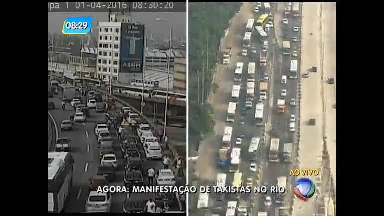 Manifestação de taxistas contra Uber causa congestionamentos no ...