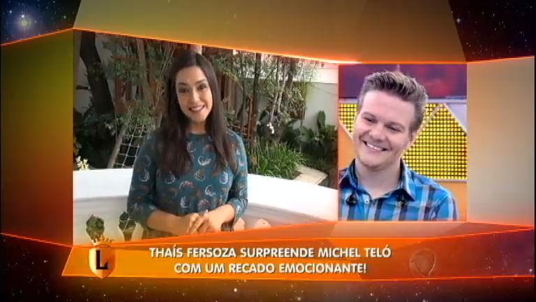 Amor está no ar! Michel Teló canta música para Thais Fersoza e ...